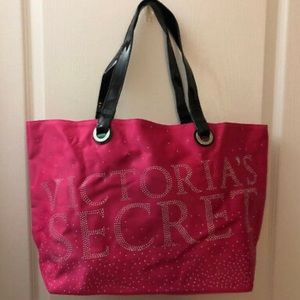 Victoria's Secret Pink Studs Silk Tote Bag